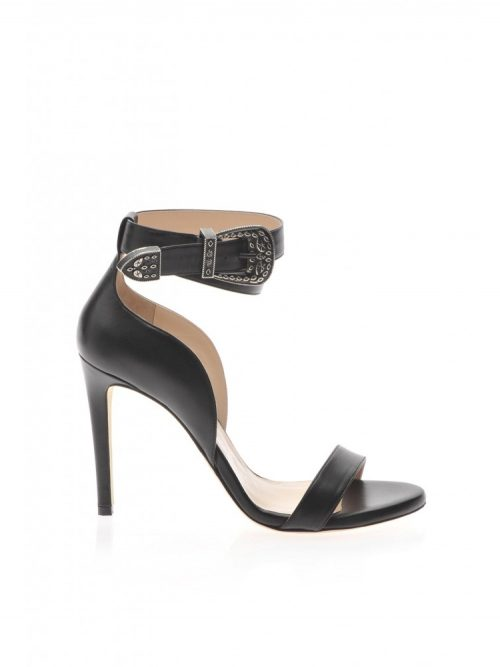 PINKO SANDALS WITH ANKLE STRAP - BLACK