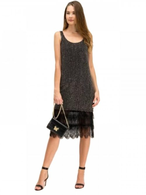 TWINSET Κοκτεϊλ φόρεμα - Μαύρο