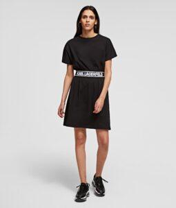 KARL LAGERFELD  LOGO TAPE T-SHIRT DRESS