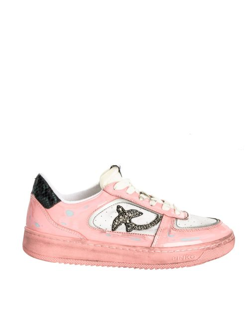 PINKO FLAT SNEAKERS IN VINTAGE PATENT LEATHER