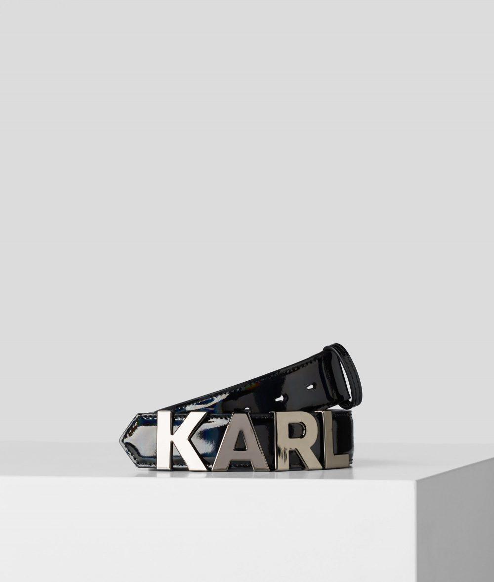 KARL LAGERFELD K/KARL METAL LETTERS BELT