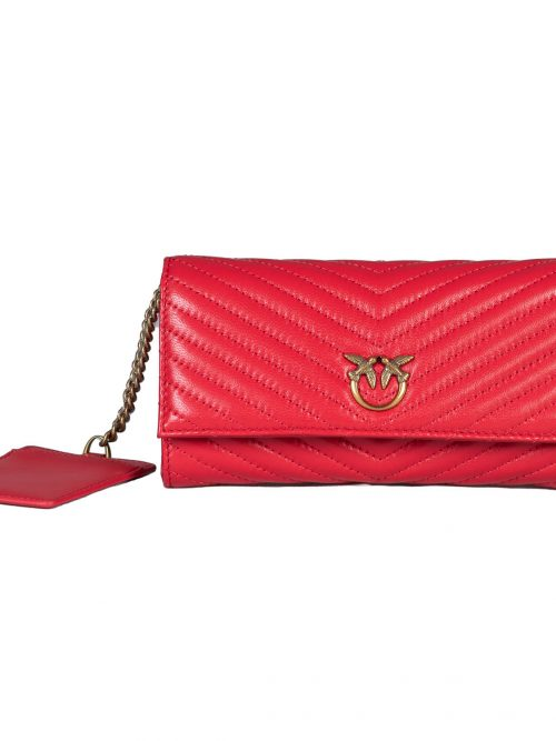 PINKO RAYEN WALLET WITH FLAP M QUILT
