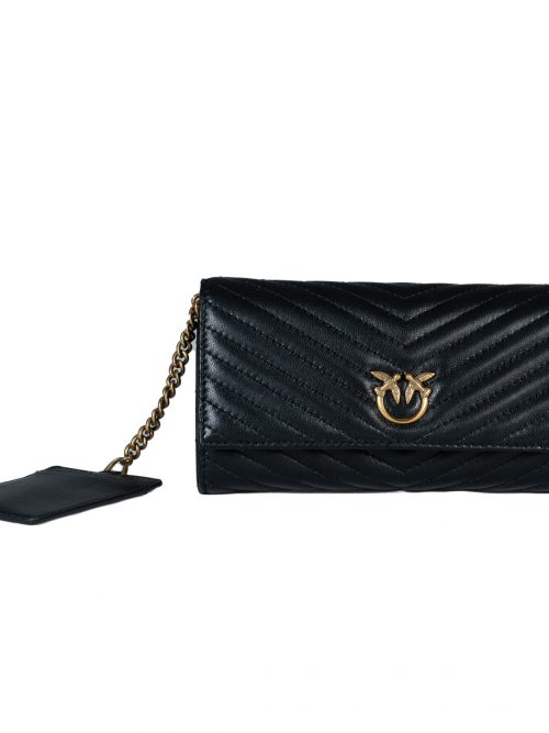 PINKO RAYEN WALLET WITH FLAP M V QUILT
