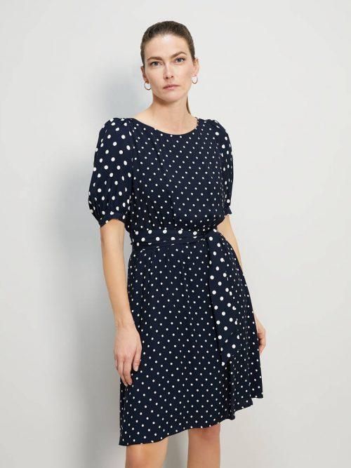Pennyblack Polka dot sablé dress