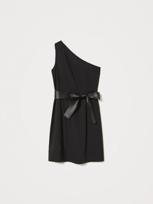 Twinset One-shoulder poplin dress