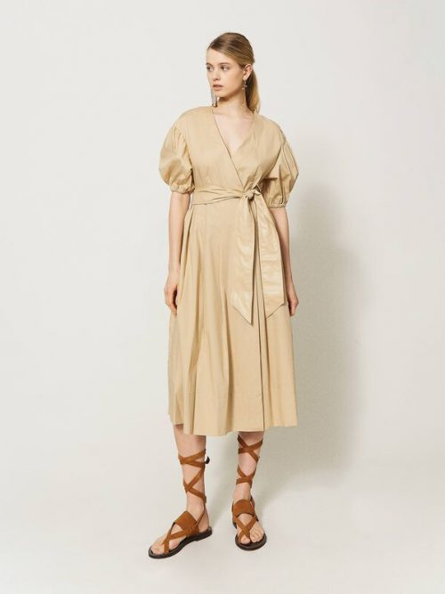 Twinset Poplin dress with belt