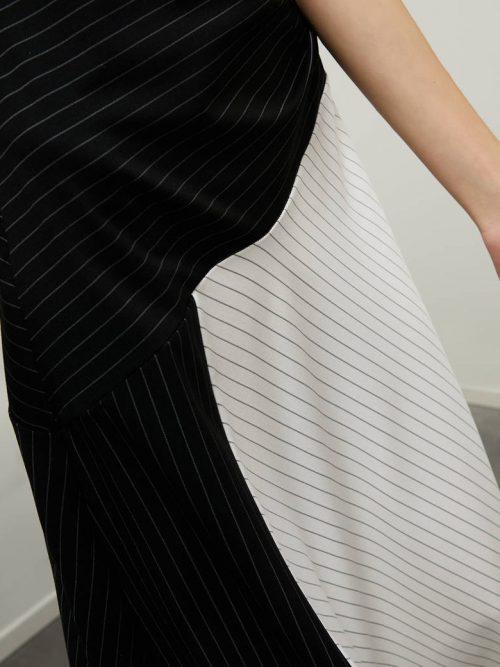 Pennyblack Midi dress in pinstriped jersey