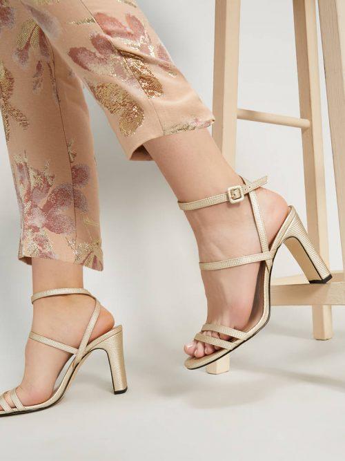 Pennyblack Lizard-print high-heeled sandals