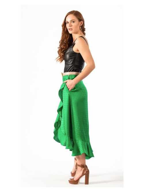 PINKO LONG SKIRT WITH FLOUNCES