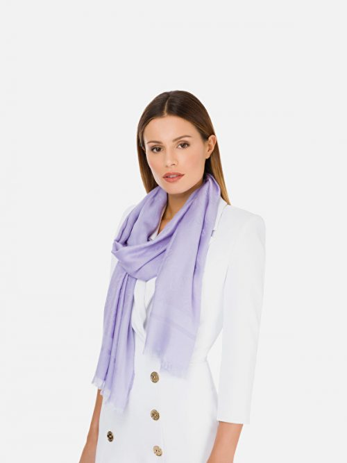 Elisabetta Franchi Jacquard scarf with large horse bit pattern