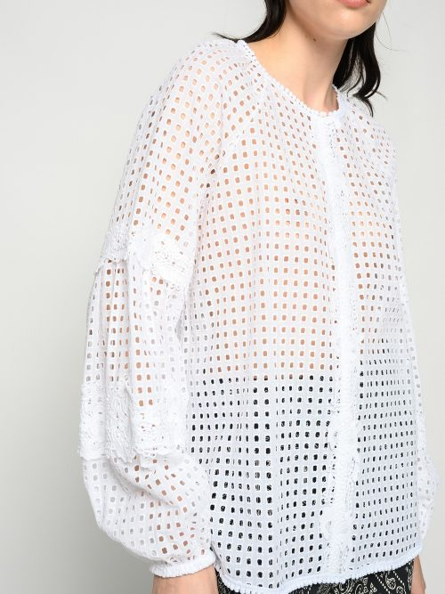 PINKO BRODERIE ANGLAISE BLOUSE