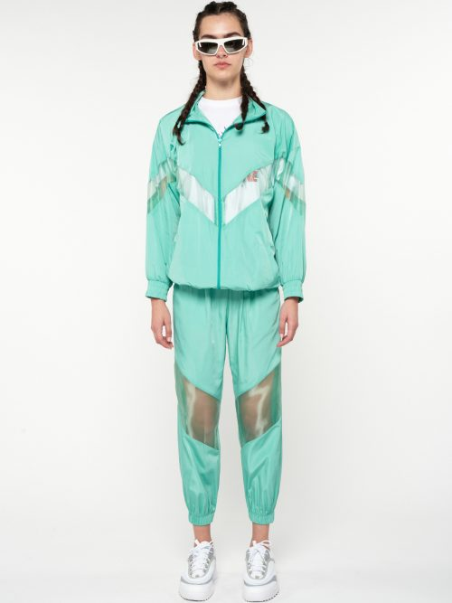 WE_ARE TRACKSUIT PANTS ORGANZA DETAILED