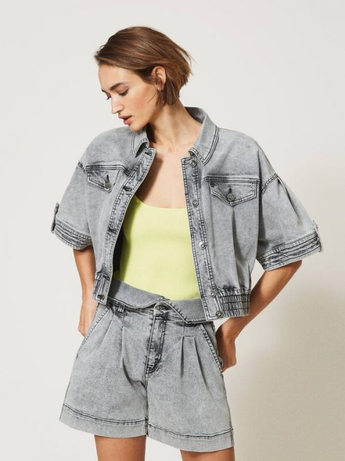 Twinset Cropped denim jacket