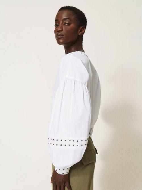 Twinset Poplin blouse with studs Add to Wishlist