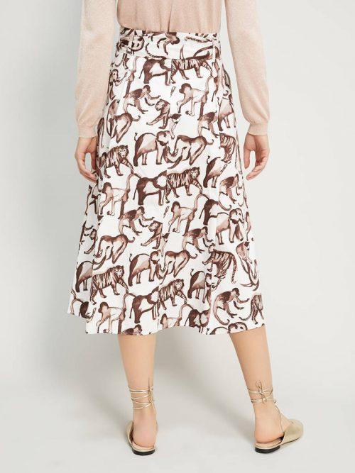 Pennyblack Printed poplin skirt