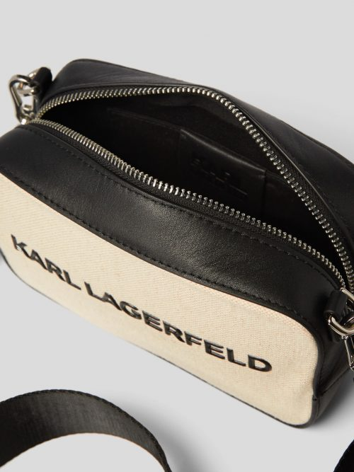 KARL LAGERFELD K/SKUARE CANVAS CAMERA BAG