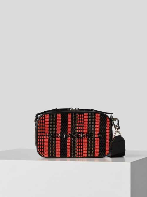 KARL LAGERFELD K/SKUARE BRAIDED CAMERA BAG