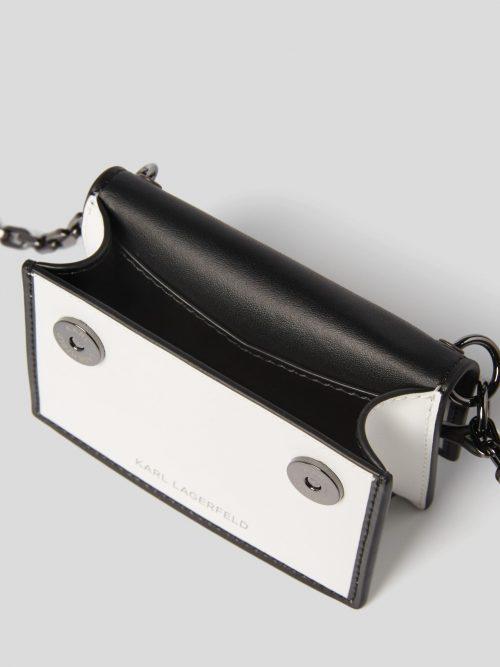 K/KARL SEVEN WHITE AND BLACK NANO SHOULDER BAG