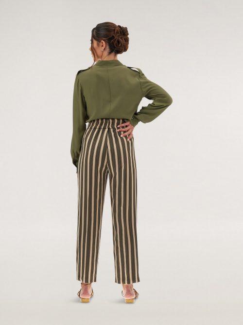 Caractere Pantaloni gamba larga a righe