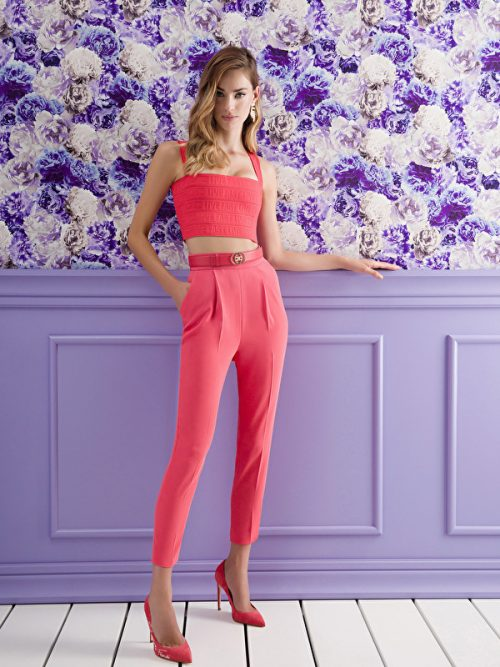 Elisabetta Franchi Skinny trousers with belt